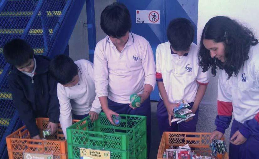 Reciclaje en el colegio Saint André: una apuesta a largo plazo